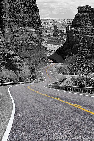 Free Winding Road, Glen Canyon Stock Images - 7575284