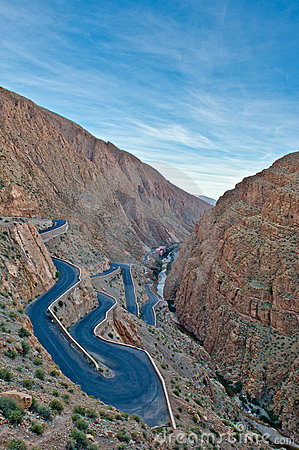Free Winding Road In The Atlas Mountains,morocco Stock Image - 22402581
