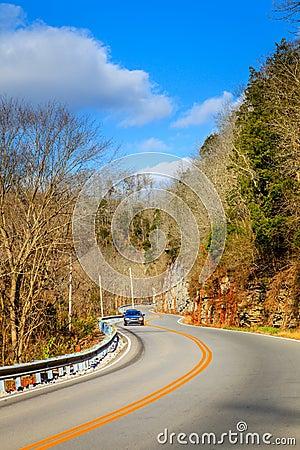 Winding road in Kentucky
