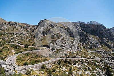 Winding road in mountain