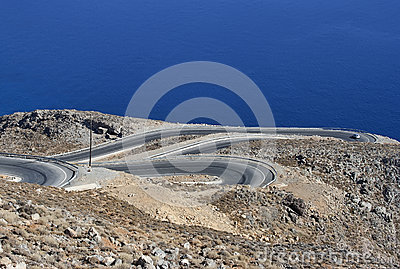 Winding road in mountains - RAW format