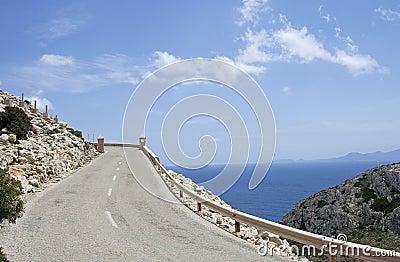 Winding road, raw