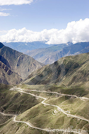 Winding Road In Tibet Royalty Free Stock Photos - Image: 23557958