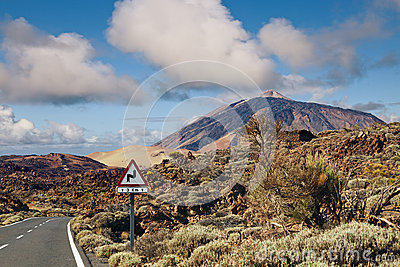 Winding Road to Teide Mountain, Tenerife