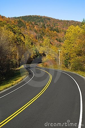 Winding scenic highway