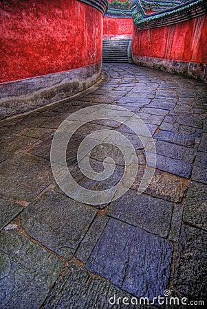 Winding stone path
