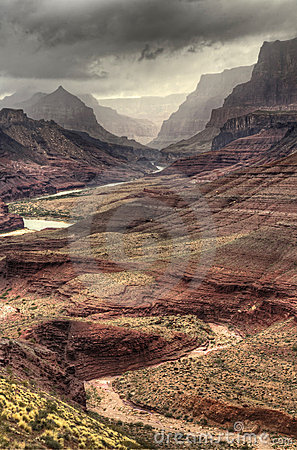 Winding Textures of the Grand Canyon