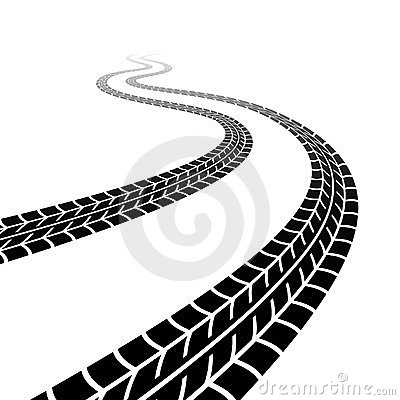 Winding trace of the tyres