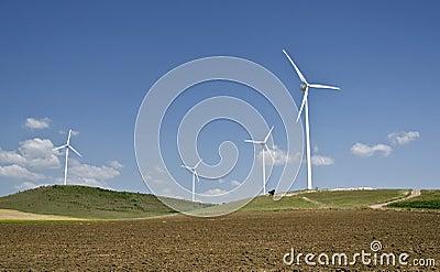 Windkraftanlagebauernhof