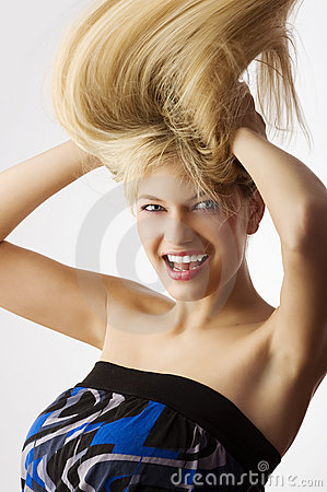 Free Windly Blond Hair Stock Photography - 10223622