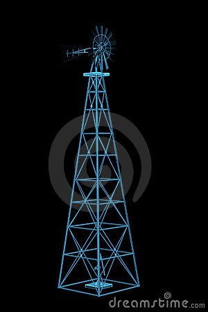 Windmill (3D xray blue)