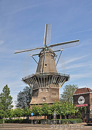 A Windmill in Amsterdam Editorial Image