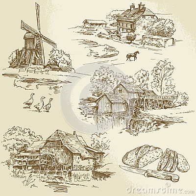 Free Windmill And Watermill Royalty Free Stock Photos - 37525248