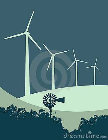 Free Windmill And Wind Turbines 3 Stock Image - 10247751