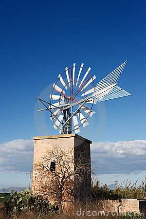 Free Windmill At Majorca Royalty Free Stock Photo - 3963105