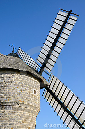 Windmill at Batz sur Mer in France