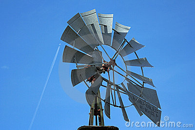 Windmill close-up, jet