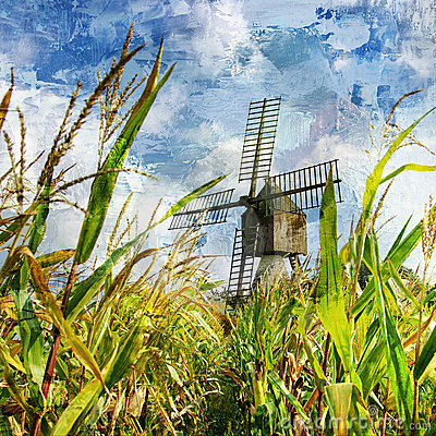 Windmill in corn