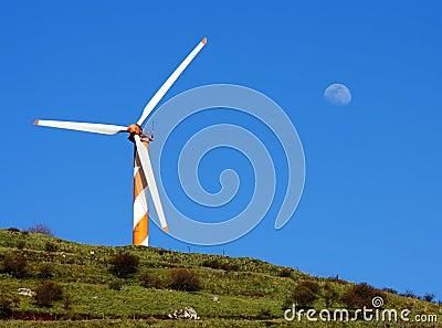 Windmill generator on Golan Heights
