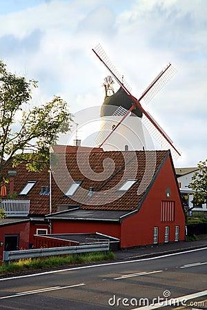 Windmill in Gudhjem, Bornholm, Denmark