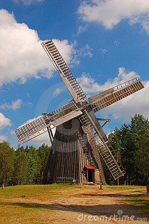 Free Windmill In Polish Countryside Royalty Free Stock Images - 6945859