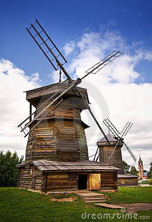 Free Windmill In Russian Countryside Stock Photography - 10196602
