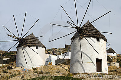 Windmill Ios Cyclades island Greece
