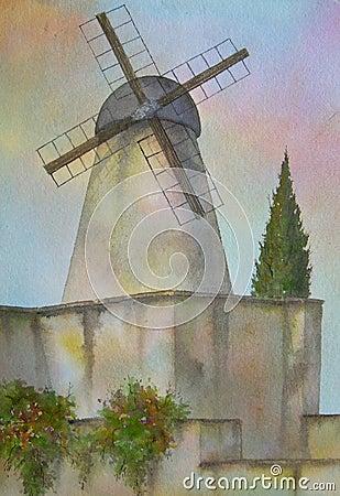 Windmill, Jerusalem, Israel