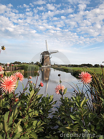 Free Windmill Landscape In Holland Stock Image - 22956761