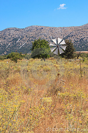 Windmill in the Lasithi Plateau