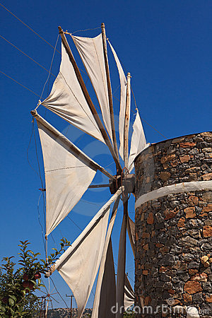 Windmill In The Lasithi Plateau Stock Photos - Image: 22007703