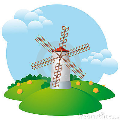 Windmill, mill, harvest