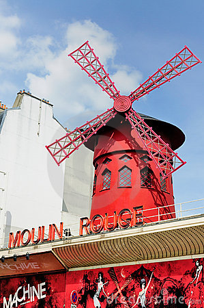 Windmill on the Moulin Rouge, Paris Editorial Image
