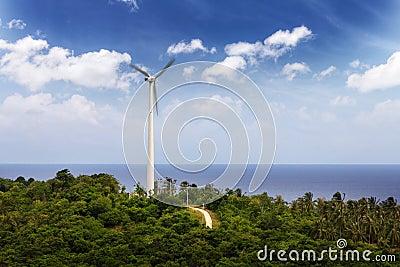 Windmill near the sea