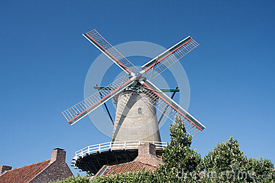 Windmill In Netherlands Royalty Free Stock Image - Image: 26208016