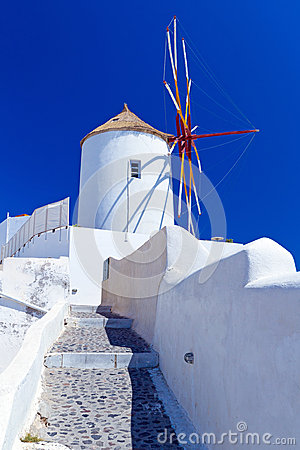 Windmill of Oia village