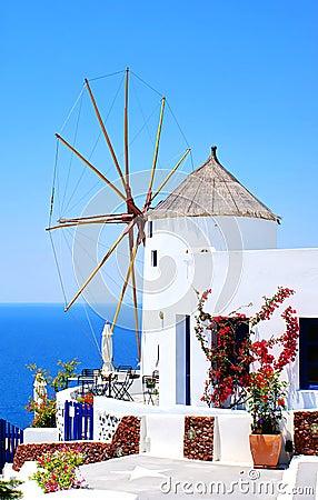 Free Windmill On Santorini Island Stock Image - 14334251