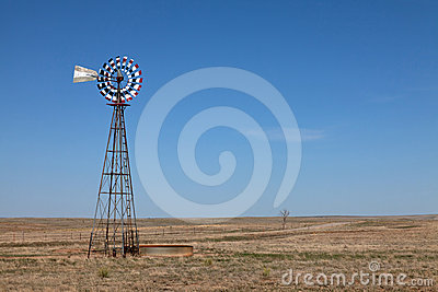 Windmill on the plains