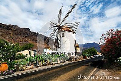 Windmill Pueblo Mogan Gran Canaria