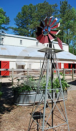Windmill, Raised Bed, Barn