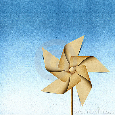 Windmill recycled papercraft