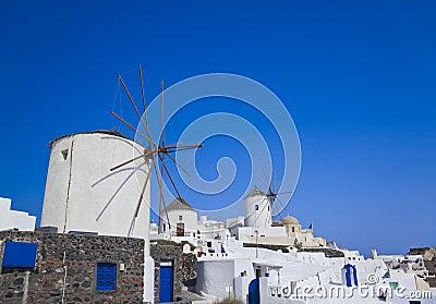 Windmill at Santorini island