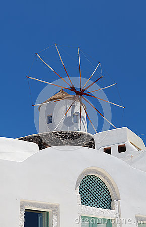 Windmill on Santorini island