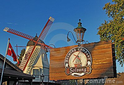 Windmill at The Solvang Brewing Company California Editorial Photo