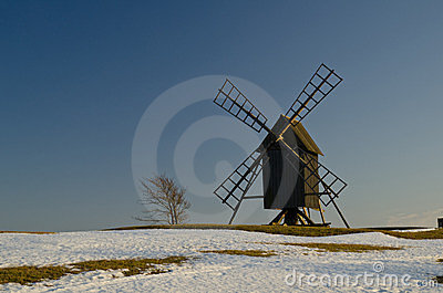 Windmill in springtime