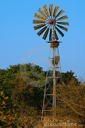Windmill at a Waterhole
