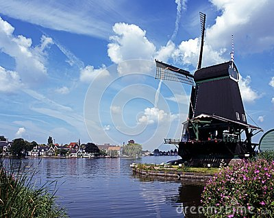 Windmill, Zaanse Schans, Holland.