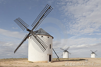 Windmills at Campo de Criptana, Ciudad Real, Spain