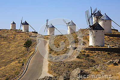 Windmills at Consuegra - La Mancha - Spain