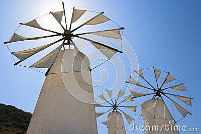Windmills. Crete